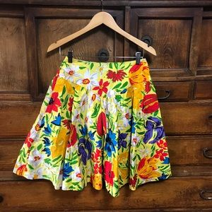 Dresses & Skirts - Vintage vacation style floral Christian Dior skirt